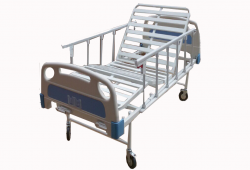 Patient bed two crank with side rails